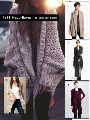 Fall Must-Have: The Shawl Cardigan