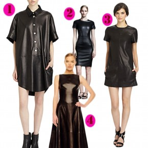 Editor's Pick: Leather Dresses