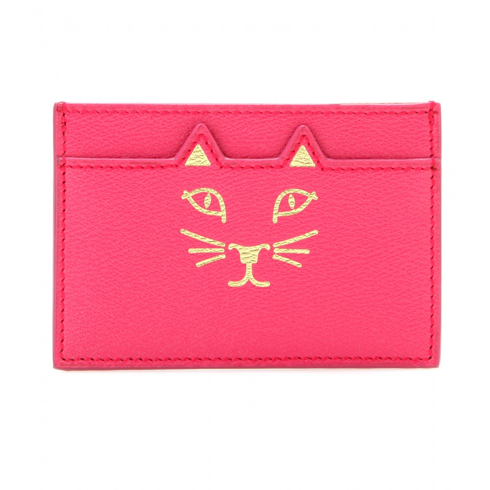 Charlotte Olympia Feline Leather Card Holder