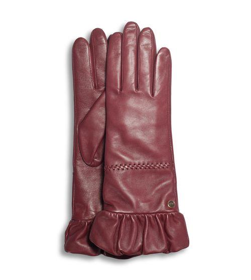 UGG Tech Leather Glove With Ruched Gathered Cuff