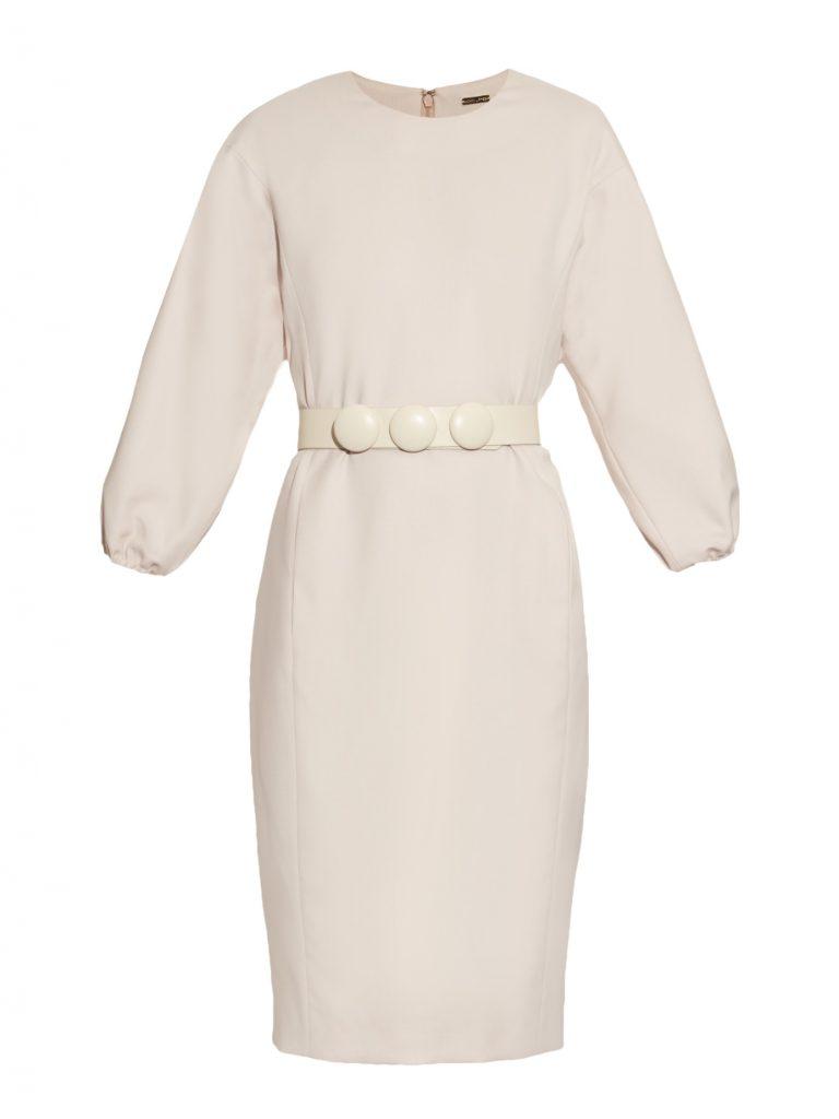 Adam Lippes Belted Wool-blend Dress