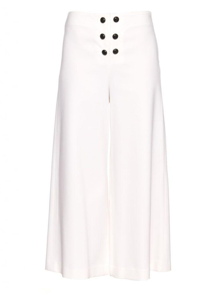 Proenza Schouler Wide-leg Wool Cropped Trousers