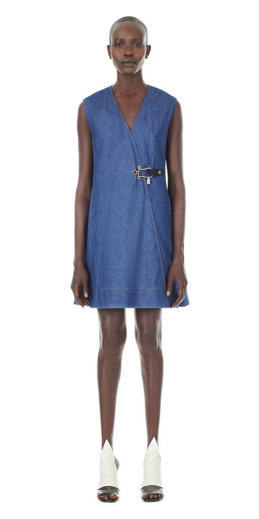 Balenciaga Jewel Clasp Denim Dress