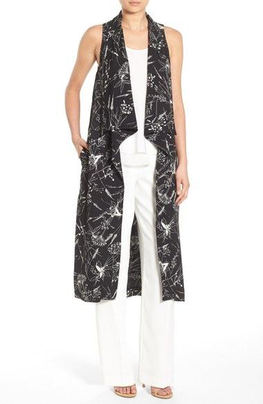 Chelsea28 Floral Print Long Vest