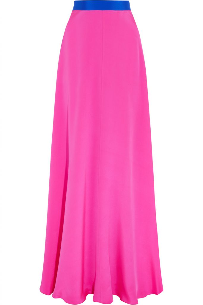 Roksanda Leighton Two-tone Silk Maxi Skirt