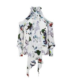 Erdem Aila Cold Shoulder Top