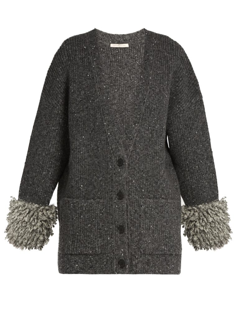 christopher-kane-looped-knit-cuff-ribbed-knit-cardigan