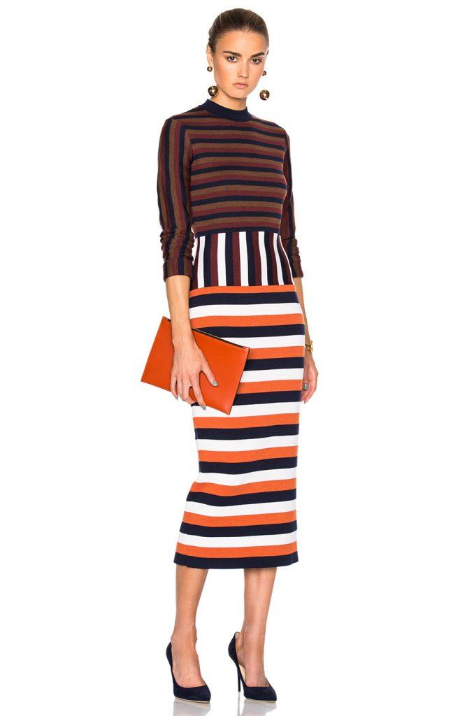 victoria-beckham-compact-wool-striped-deconstructed-dress