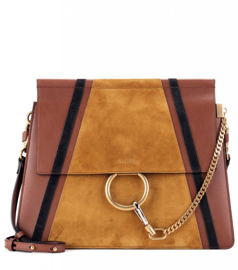 chloe-faye-leather-and-suede-shoulder-bag