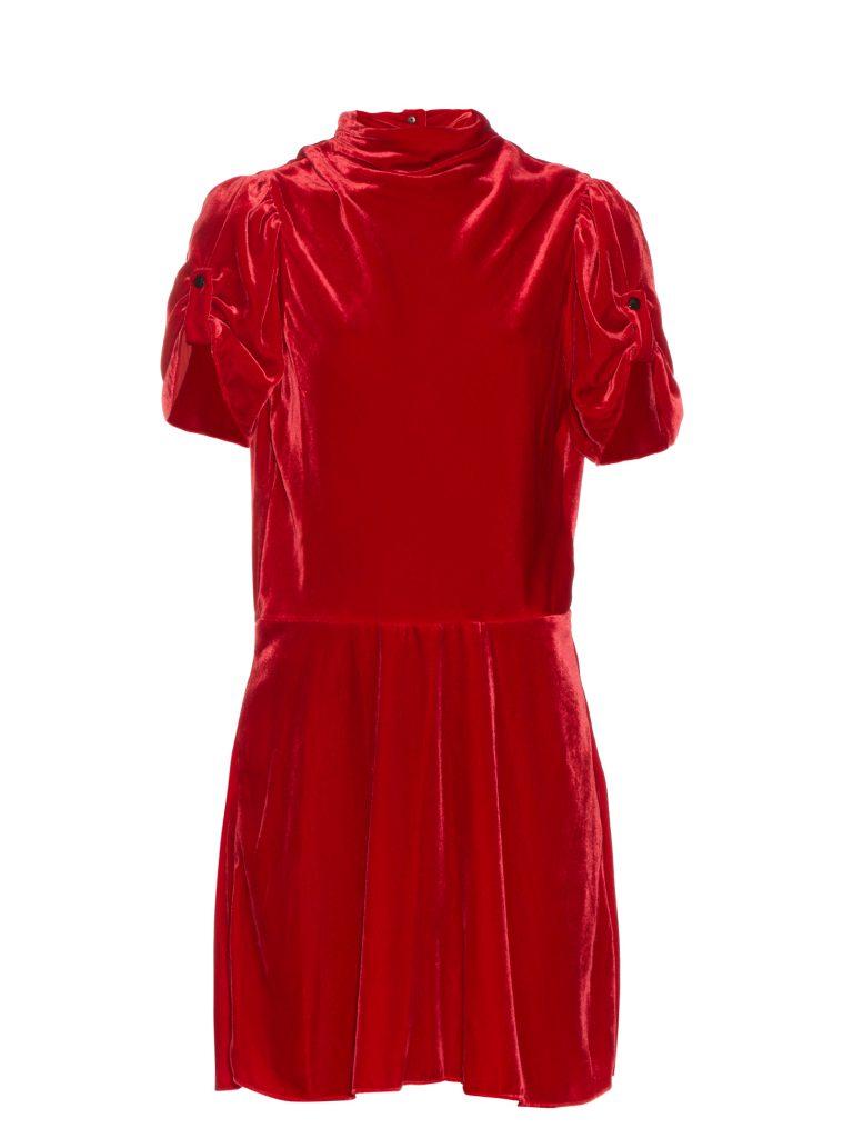 isabel-marant-etoile-lazy-short-sleeved-velvet-dress