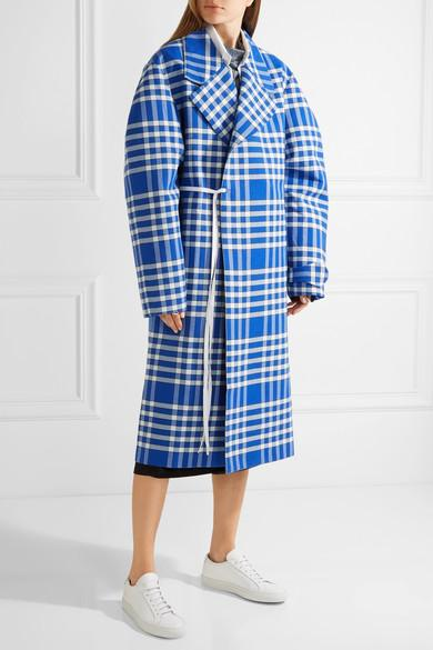 jacquemes-plaid-woven-coat