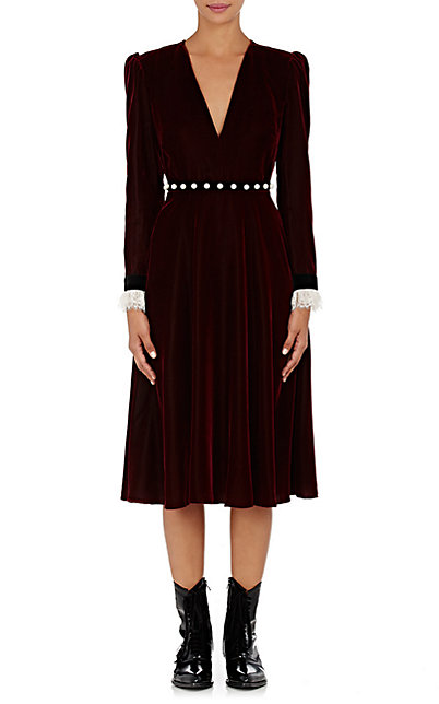 philosophy-di-lorenzo-serafini-velvet-deep-v-neck-dress