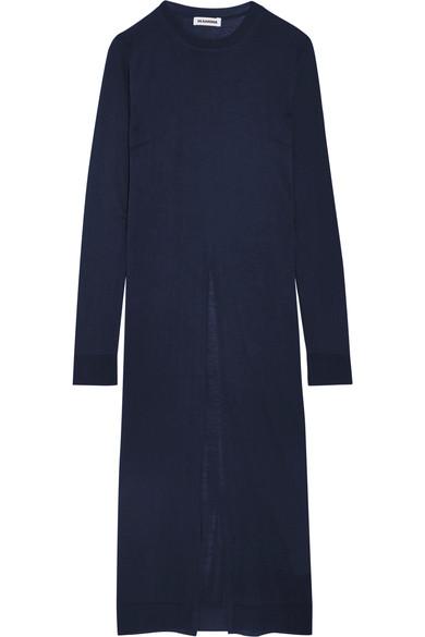jil-sander-split-front-silk-and-cotton-blend-sweater
