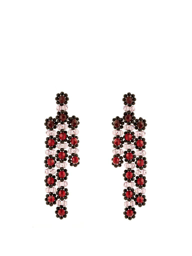 simone-rocha-triple-flower-drop-earrings