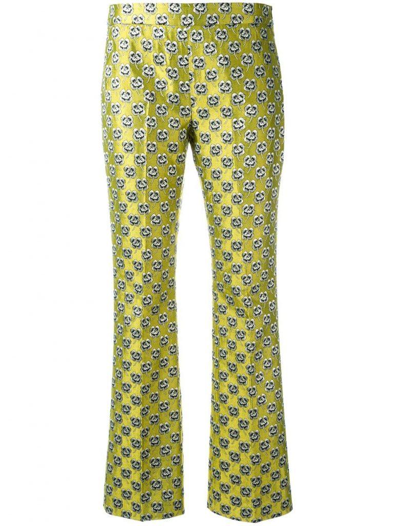 Giamba Floral Jacquard Trousers