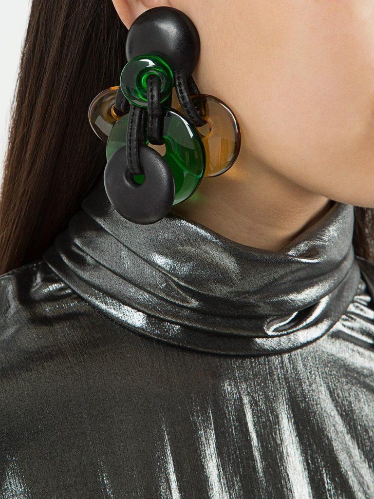 Monies Disc Cluster Clip on Earrings
