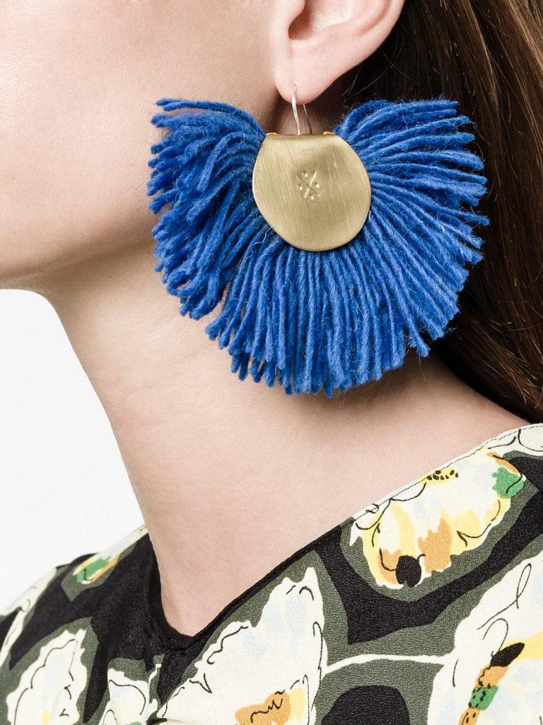 Katerina Makriyianni Hand-fan Earrings