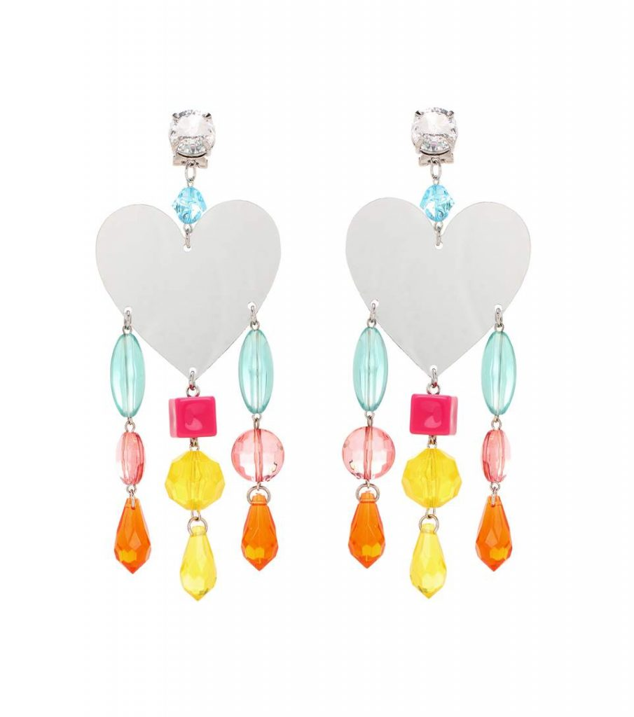 Miu Miu Mirrored Clip-on Earrings