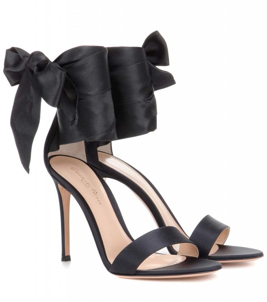 Gianvito Rossi Gala Satin Sandals