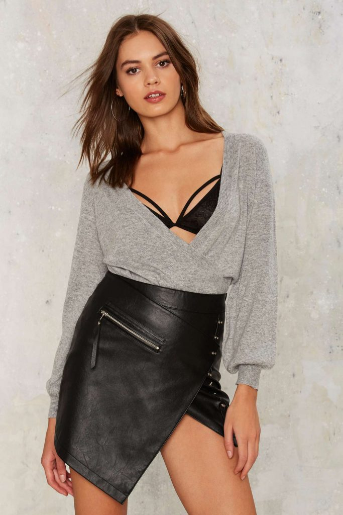 Nasty Gal Barre Work Plunging Sweater