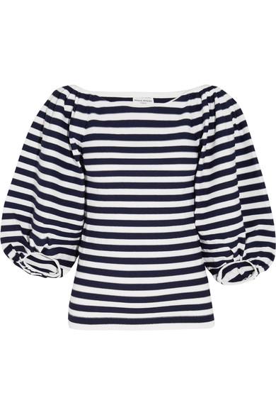 Sonia Rykiel Striped Cotton-blend Top