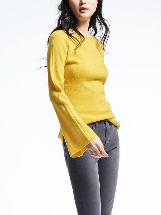 Banana Republic Heritage Cashmere Flare Sleeve Sweater