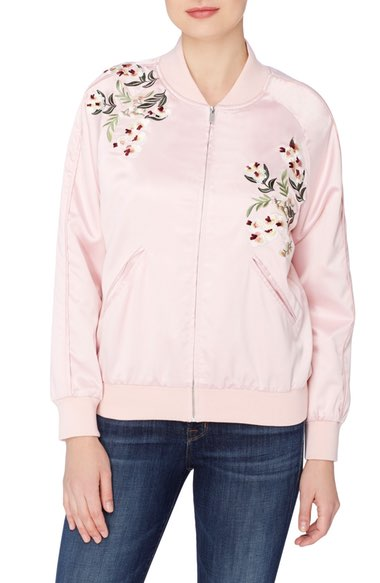 Catherine Catherine Malandrino Jimmie Embroidered Bomber Jacket