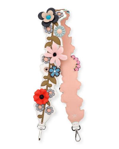 Fendi Strap You Inlaid Floral Shoulder Strap