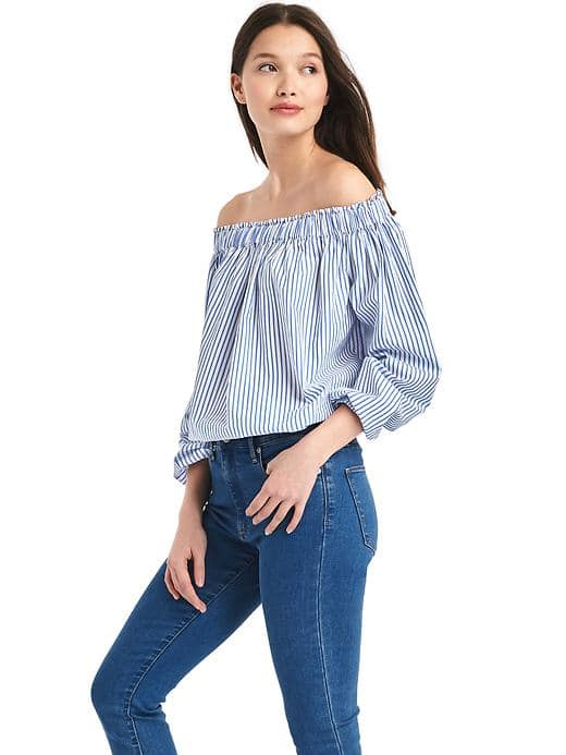Gap Stripe Off-shoulder Top