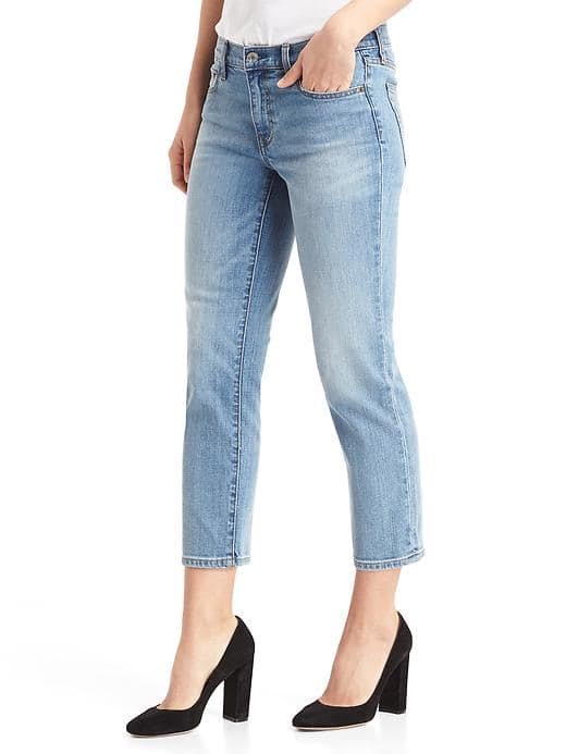 Gap Washwell Mid Rise Slim Crop Jeans