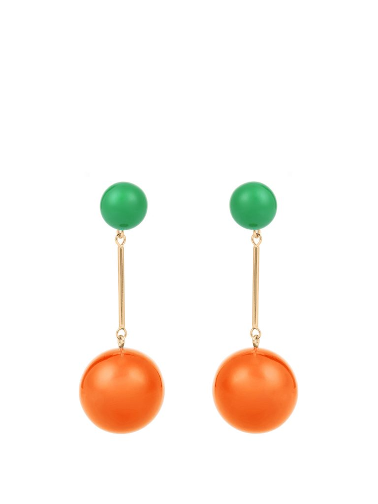 J.W. Anderson Contrast-sphere Drop Earrings