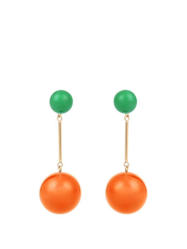 J.W. Anderson Contrast-sphere Drop Earrings