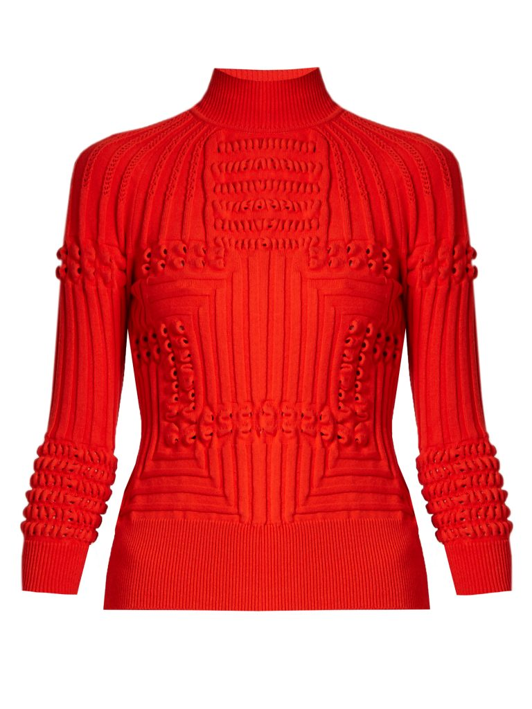 Mary Katrantzou Hardy Roll-neck 3-D Knit Sweater