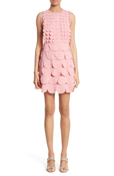 RED Valentino Scallop Point d'Esprit Dress