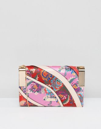 River Island Jacquard Print Cross Body Bag