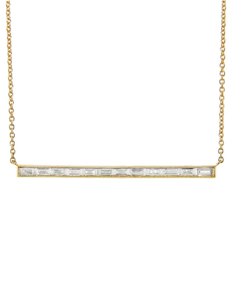 SETHI COUTURE_white baguette necklace