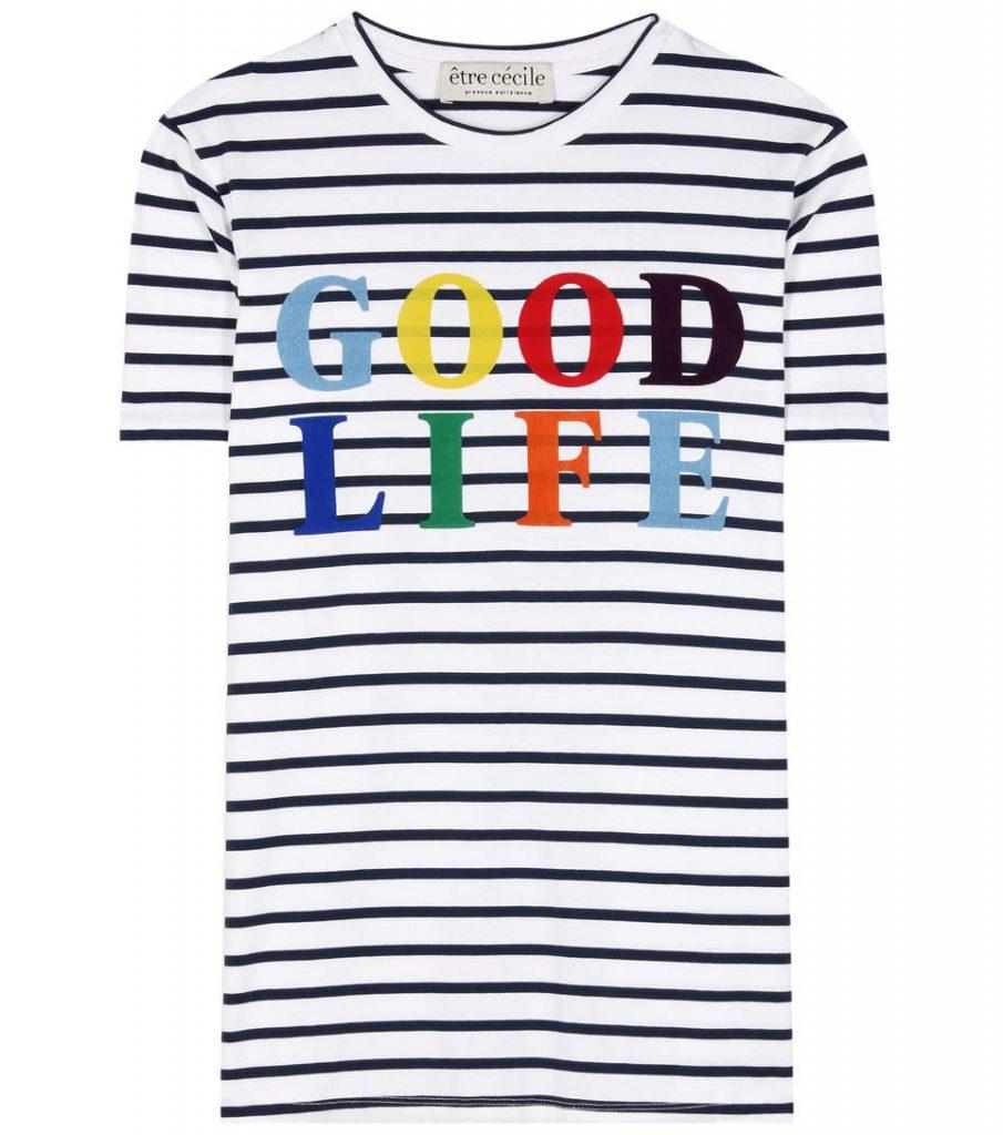 être cécile Good Life Striped Cotton T-shirt