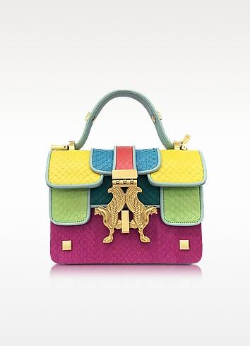 Giancarlo Pertiglia Pop Color-Block Elaphe Leather Mini P Bag