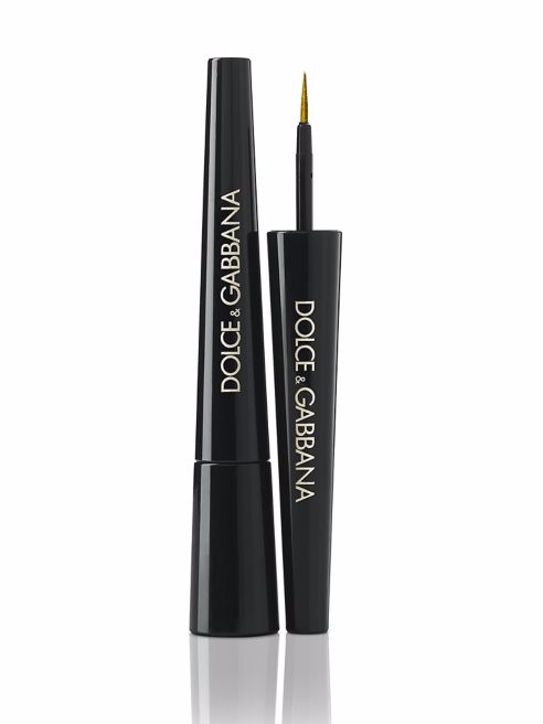 gold baroque eyeliner
