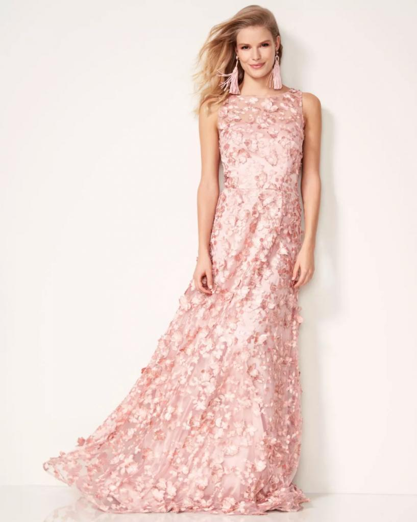 David Meister Embellished Gown