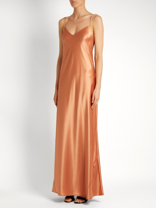 Galvan satin gown