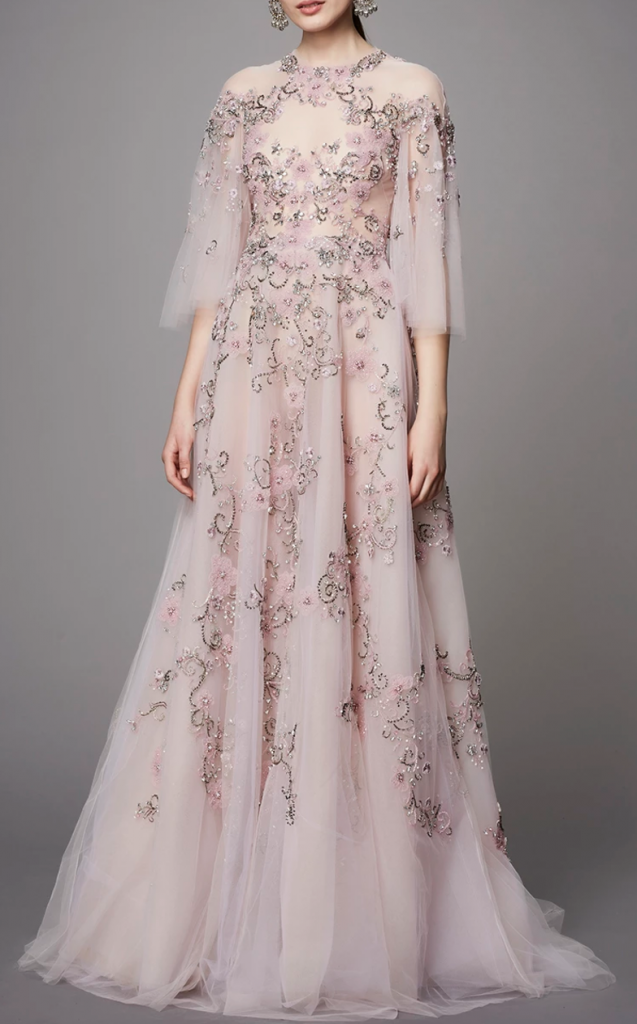 Marchesa pink gown