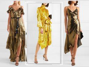 Shine On: The LGDs (Little Gold Dresses) You Need Now