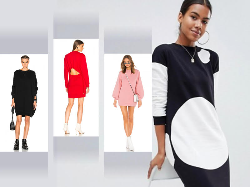 ea6d752b61bf6f Sweatshirt Dresses: The Must-Have Dress Of The Season