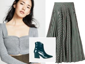 1 Skirt, 3 Looks: The Plaid Midi Skirt