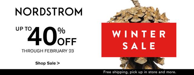 Nordstrom Winter Sales